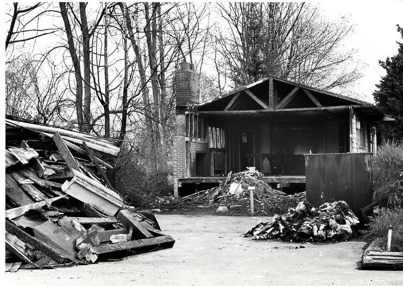 52c. 425.1 Arboretum Clubhouse, after fire.  4 -8- 68.jpg